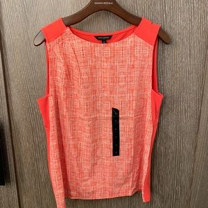 Banana Republic Orange Top Size: S New With Tag